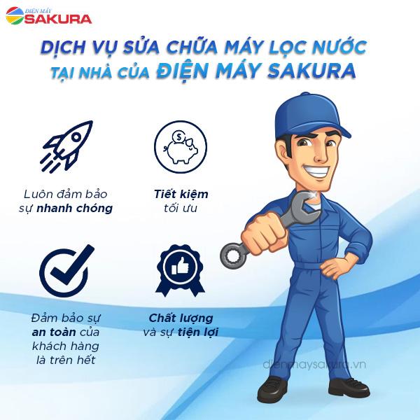 Dịch vụ sửa chữa máy lọc nước tại nhà của Điện máy Sakura